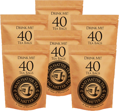 Mad Hatter: Teabags 40s Retail Multipack 6x125g